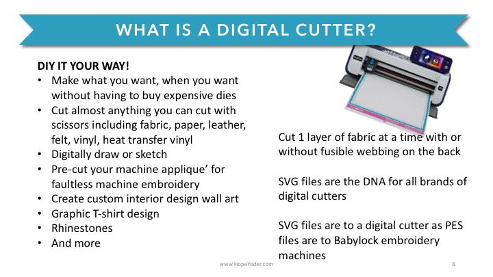 Digital Cutters: What Do They Do? | Hope Sew Creative